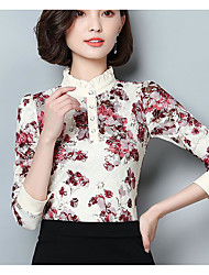cheap -Women's Street chic Blouse - Floral, Modern Style Print Stand