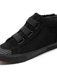 baratos -Homens sapatos Tecido Primavera Outono Conforto Tênis para Casual Preto Cinzento