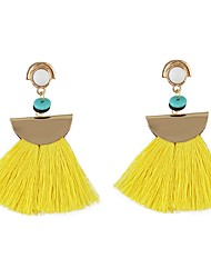 cheap -Women's Tassel Drop Earrings - Tassel, Basic Blue / Pink / Light Blue For Daily Date
