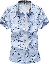 cheap -Men's Casual Cotton Shirt - Print