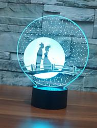 Недорогие -1шт 3D ночной свет Сенсорный 7-Color Аккумуляторы AAA Стресс и тревога помощи Сенсорный датчик С портом USB