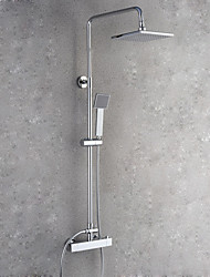 cheap -Contemporary Wall Mounted Rain Shower Handshower Included Chrome, Shower Faucet
