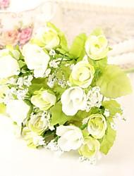 abordables -2 Une succursale Polyester Roses Fleur de Table Fleurs artificielles