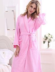 Недорогие -Высшее качество Банный халат, Однотонный 100% полиэстер Ванная комната
