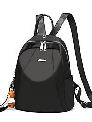 baratos -Mulheres Bolsas Tecido Oxford mochila Ziper para Casual / Esportes / Escritório e Carreira Preto