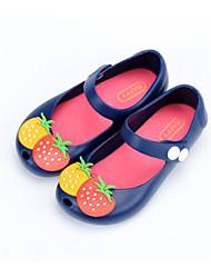 preiswerte -Mädchen Schuhe PVC Leder Frühling Herbst Komfort Sandalen für Normal Schwarz Blau Rosa