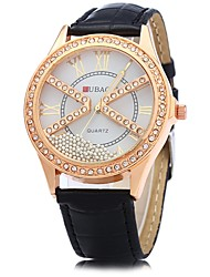cheap -JUBAOLI Women's Wrist watch Chinese Quartz Imitation Diamond Leather Band Sparkle Gold