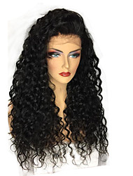 cheap -Human Hair 360 Frontal Wig Brazilian Hair Curly / 360 Frontal Wig 250% With Baby Hair / Natural Hairline Long Human Hair Lace Wig