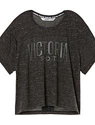 economico -Per donna Sottomaglia - Bianco, Nero, Grigio scuro Gli sport T-shirt / Felpa Maniche corte Abbigliamento sportivo Traspirabilità