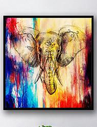 abordables -Laminados en lienzo Modern, Un Panel Lona Cuadrado Pintura al óleo pintada a colgar Decoración de pared Decoración hogareña