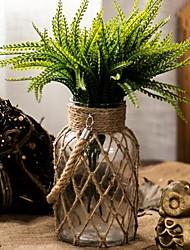 Недорогие -Искусственные Цветы 0 Филиал Простой стиль Ваза Букеты на стол / Одноместный Ваза