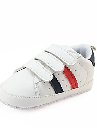 cheap -Girls' Shoes Leatherette Spring / Fall Comfort / First Walkers / Crib Shoes Sneakers Magic Tape for Red / Green / Black / Red