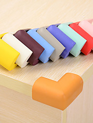 cheap -4 PCS Solid Color Sponge Desk Corner Bumpers Kids Protection Cover