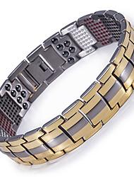 preiswerte -Herrn Ketten- & Glieder-Armbänder Hologramarmband Magnetisches Armband - Armbänder Gold / Schwarz / Silber Für Normal Alltag