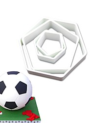cheap -Cake Molds Football For Candy Cake Chocolate For Cupcake For Cake Plastics Stainless Steel 430 DIY Valentine's Day Birthday 3D Baking Tool