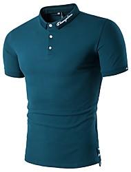 cheap -Men's Cotton Polo - Letter Shirt Collar