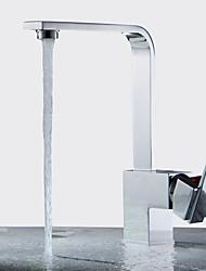 abordables -Moderne Jet pluie Soupape céramique Mitigeur un trou Nickel poli, Robinet de Cuisine