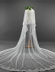 Недорогие -Два слоя Винтаж Свадебные вуали Фата для венчания с Вышивка Тюль / Классическая