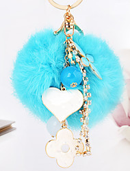 cheap -Birthday Friends Wedding Keychain Favors Rabbit Fur Zinc Alloy Keychain Favors - 1
