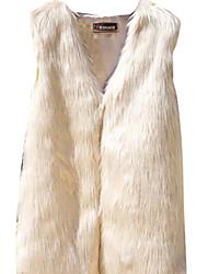 preiswerte -Damen Druck Einfach Lässig/Alltäglich Weste Herbst Langarm Standard Baumwolle