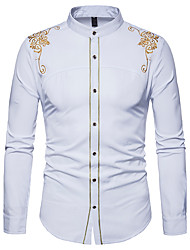 cheap -Men's Street chic Shirt - Solid Colored