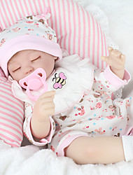 cheap -NPK DOLL Reborn Doll Baby 18 inch Silicone / Vinyl - lifelike, Hand Applied Eyelashes, Tipped and Sealed Nails Kid's Girls' Gift