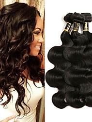 Недорогие -3 Связки Индийские волосы Естественные кудри 8A Натуральные волосы Человека ткет Волосы Ткет человеческих волос Расширения человеческих волос