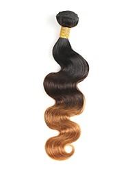baratos -1 Peça Preto / Medium Brown / louro da morango Onda de Corpo Cabelo Brasileiro Tramas de cabelo humano Extensões de cabelo 0.1kg