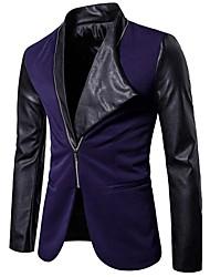 cheap -Men's Cotton Blazer - Color Block