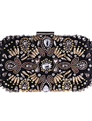 cheap -Bags Polyester Evening Bag Beading / Crystals for Wedding / Event / Party Black
