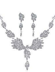 abordables -Mujer Zirconia Cúbica Geométrico Conjunto de joyas - Zirconio, Plateado Gota Incluir Plata Para Boda / Fiesta de Noche / Pendientes