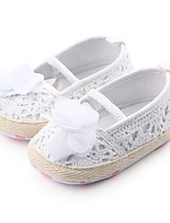 cheap -Girls' Shoes Fabric Spring & Summer Comfort / First Walkers / Crib Shoes Flats Flower / Gore for Gray / Red / Pink