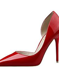 preiswerte -Damen Schuhe PU Frühling Sommer Komfort Pumps High Heels Stöckelabsatz Spitze Zehe Geschlossene Spitze für Party & Festivität Büro &