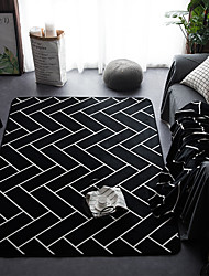 cheap -Area Rugs Modern Flannelette, Rectangular Superior Quality Rug / Latex Non Skid