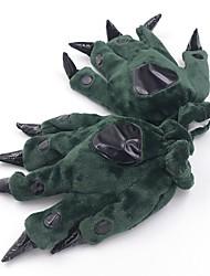 abordables -Dinosaurio Pijamas de una pieza Disfraz Felpa Verde / Azul / Rosa Cosplay por Adulto Ropa de Noche de los Animales Dibujos animados
