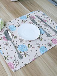 abordables -Motifs Mélange lin & coton Carré Sets de table Décorations de table