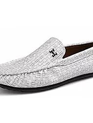 Homens sapatos Couro Ecológico Primavera Outono Mocassim Mocassins e Slip-Ons para Casual Preto Cinzento Claro Verde Verde Claro
