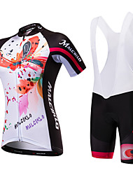 cheap -Malciklo Women's Short Sleeves Cycling Jersey with Bib Shorts - Black/White Black/Red British Bike Clothing Suits, Quick Dry, Anatomic