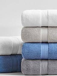 Недорогие -Высшее качество Банное полотенце, Однотонный 100% хлопок Ванная комната