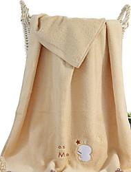 Недорогие -Свежий стиль Банное полотенце, Однотонный Высшее качество 100% хлопок 100% хлопок перкаль Полотенце