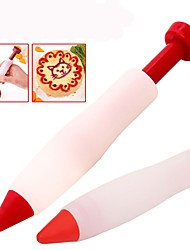 baratos -Alimentos de escrita caneta de silicone ferramentas de decoração de chocolate bolo molde creme copo cookie de confeiteiro piping bicos de pastelaria