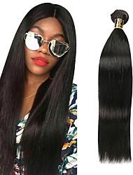abordables -Cheveux Péruviens Droit Tissages de cheveux humains 1 Bundle 8-28pouce Tissages de cheveux humains Noir Naturel Femme / Droite