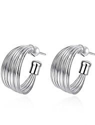 abordables -Femme Cristal Géométrique Boucles d'oreille goujon - Plaqué argent Mode Argent Pour Mariage Quotidien