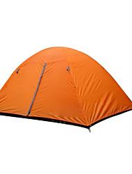 baratos -2 Pessoas Tenda Dupla Camada Barraca de acampamento Ao ar livre Tenda Dobrada Prova-de-Água / Á Prova-de-Chuva / Manter Quente para Caça