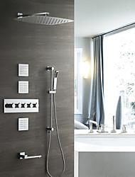 abordables -Grifo de ducha - Moderno Cromo Colocado en la Pared Válvula Cerámica