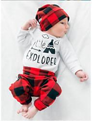 Недорогие -Дети (1-4 лет) Мальчики На каждый день Праздники Геометрический принт / С принтом / В клетку Длинный рукав Хлопок Набор одежды / Очаровательный