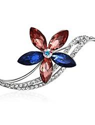cheap -Women's Brooches Cubic Zirconia Embossed Beautiful Girl Zircon Alloy Rainbow Jewelry For Graduation Prom