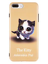 Θήκη Za Apple iPhone X iPhone 8 IMD Uzorak Stražnja maska Mačka Mekano TPU za iPhone X iPhone 8 Plus iPhone 8 iPhone 7 Plus iPhone 7