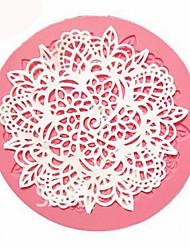 abordables -dentelle silicone moule sucre artisanat fondant mat moule de cuisson outil de décoration de gâteau