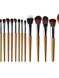 cheap -15pcs Professional Makeup Brushes Permanent Makeup Kit Supplies Synthetic Hair Full Coverage Beech Wood Fashion